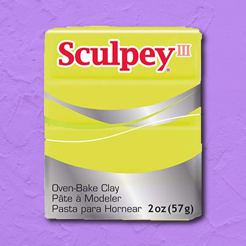 cosplay Sculpey clay acid yellow