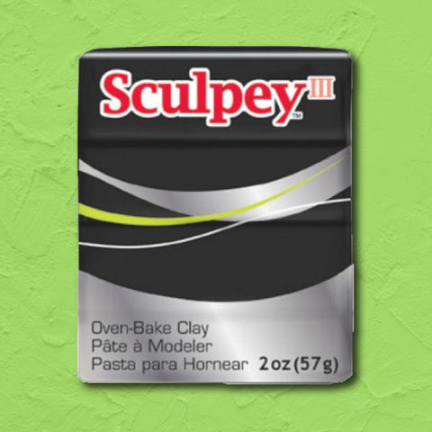 cosplay Sculpey clay black
