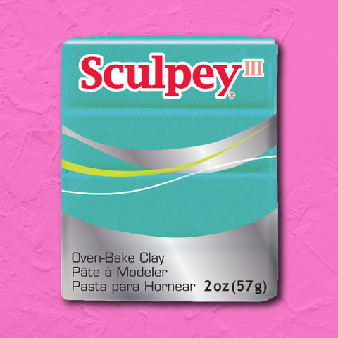 cosplay Sculpey clay teal pearl