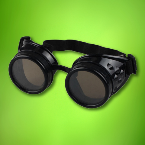 Steampunk Goggles: Carbon Black