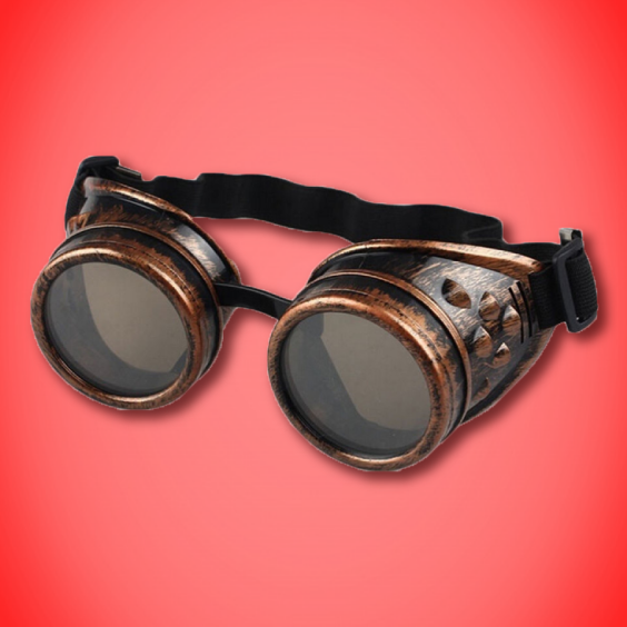 Steampunk Goggles: Brushed Bronze