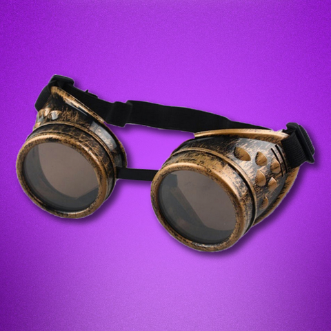 Steampunk Goggles: Gaslight Gold