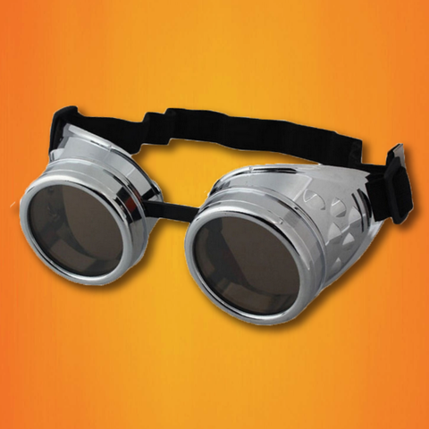 Steampunk Goggles: Sleek Silver