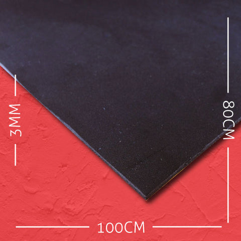 3mm EVA Black: 100cm x 80cm