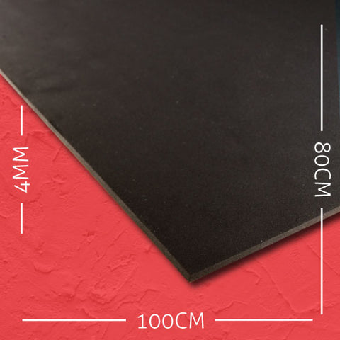 4mm EVA Black: 100cm x 80cm