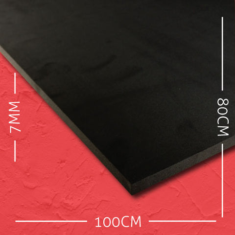 7mm EVA Black: 100cm x 80cm