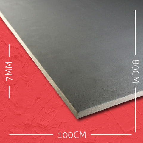 7mm EVA Grey: 100cm x 80cm