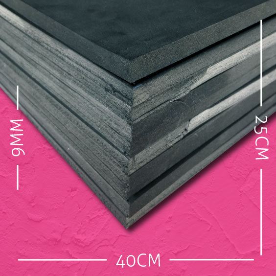 9mm EVA Black: 40cm x 25cm (10 pack)