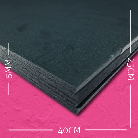cosplay foam EVA black 5mm