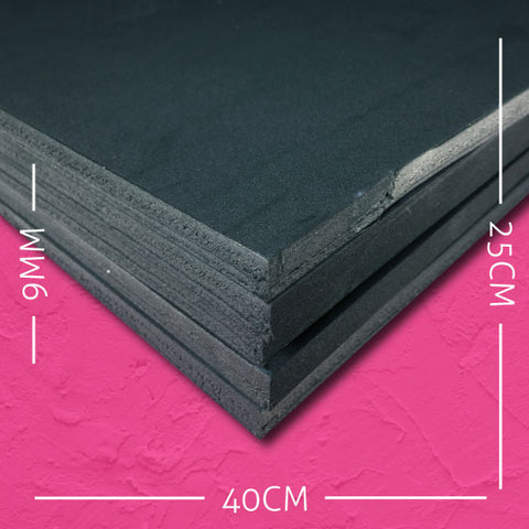 9mm EVA Black: 40cm x 25cm (5 pack)
