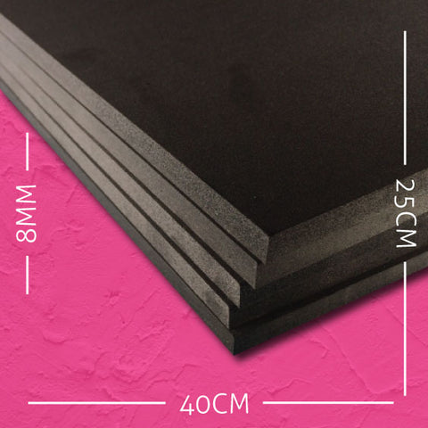 8mm EVA Black: 40cm x 25cm (5 pack)