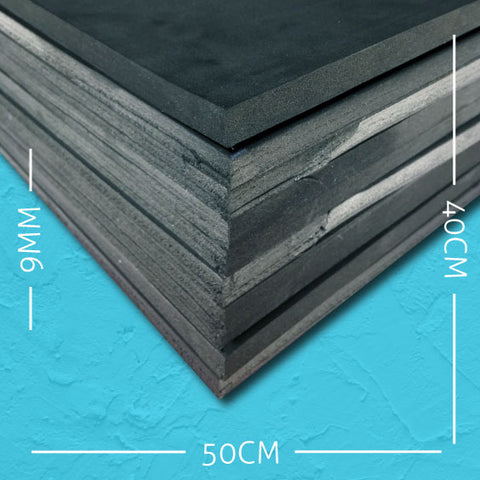 9mm EVA Black: 50cm x 40cm (10 pack)
