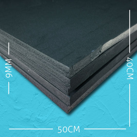 9mm EVA Black: 50cm x 40cm (5 pack)