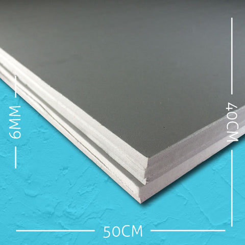 6mm EVA Grey: 50cm x 40cm (5 pack)