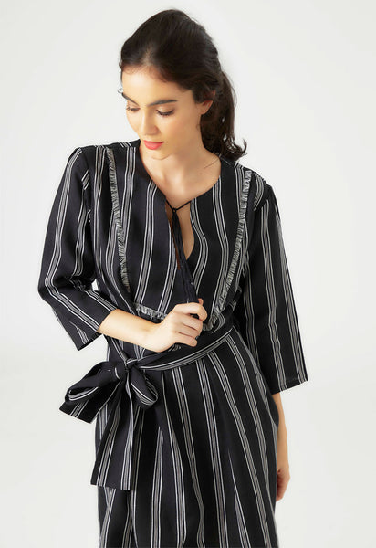Black Linen Kaftan Dress - Mae & Pearl