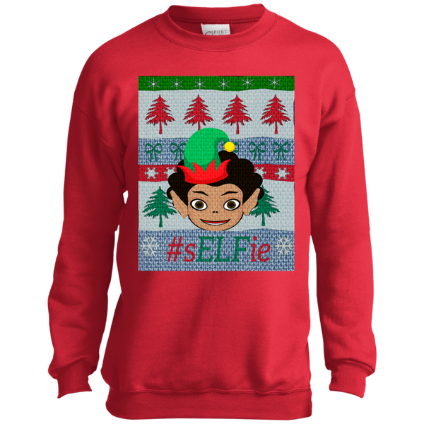 Christmas Sweatshirt-Curly Afro