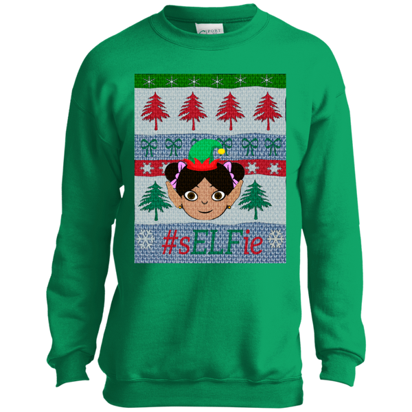 Christmas Sweatshirt- Little Pigtails
