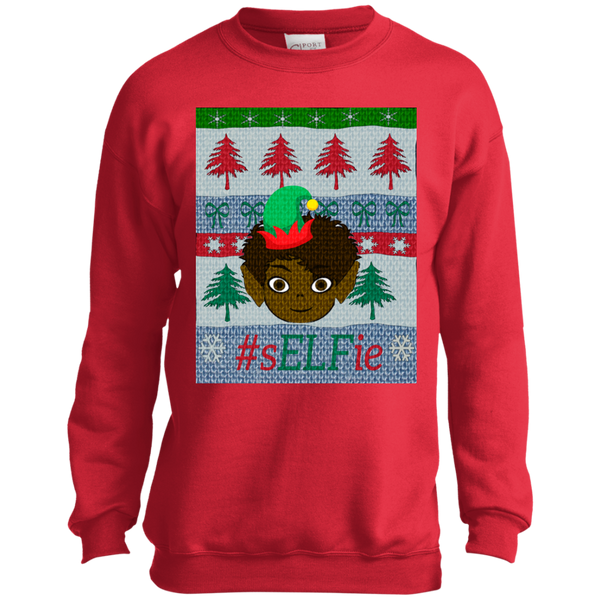 Christmas Sweatshirt-Curly Cutie