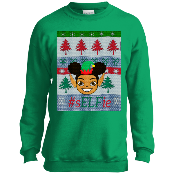 Christmas Sweatshirt-Afro Puffs