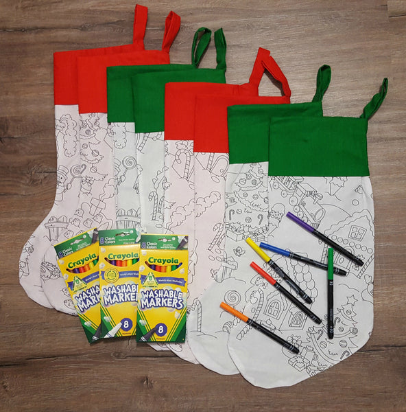 GIANT Colouring in Stockings