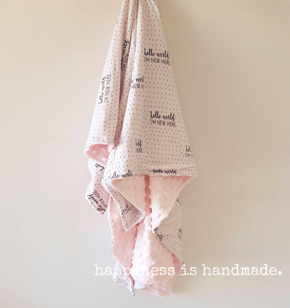 Hello World Blanket - Pink