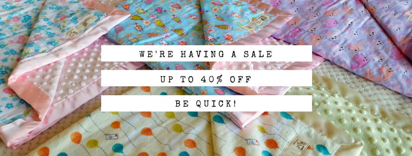 We're having a SALE, up to 40% off, be quick!