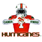 Canes Swag Reversible Magnet