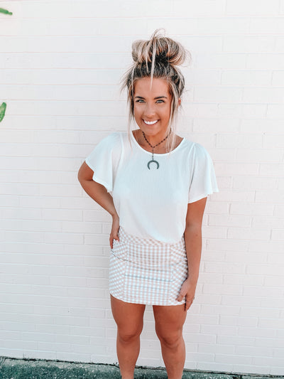 The Tessa Gingham Skirt