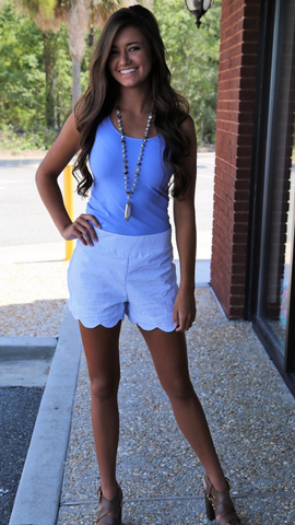 Katherine Scallop Shorts