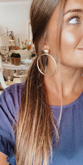 Sheila Falj Gold Mini Visage Hoop Earrings