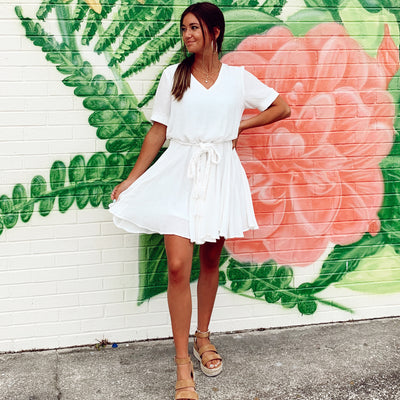 White Vacay Mode Dress