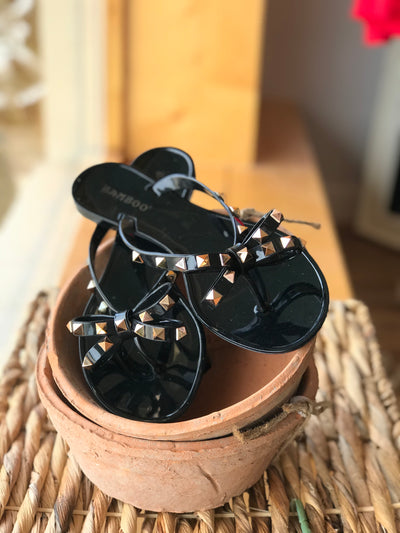 Ansley Studded Jelly Sandal
