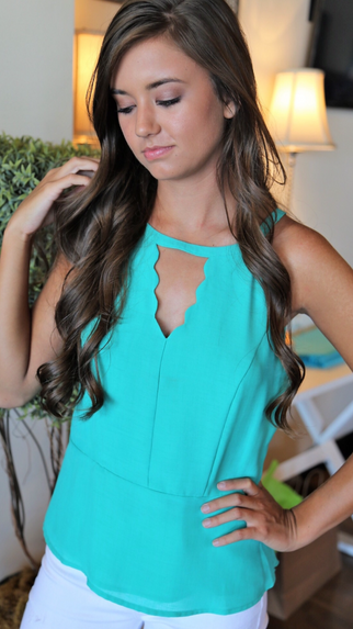 Best time Turquoise Top