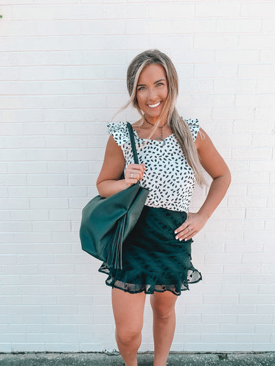 Connect Me Spotted Skirt