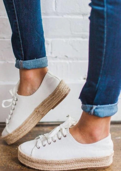 The Haley White Platform sneakers