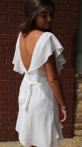 Open Back Ruffle Dress