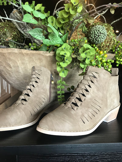The Kimberly Khaki Bootie