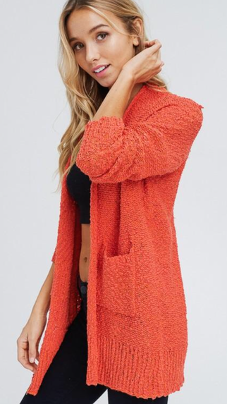 Fall Feelings Rust Cardigan