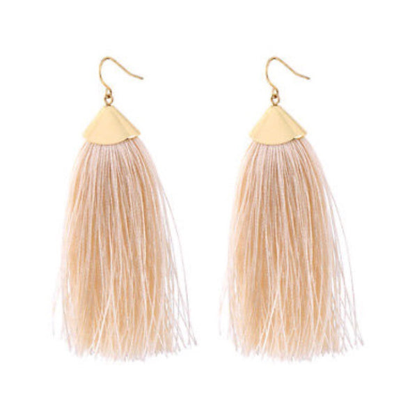 Cream of the Crop Tassel Earrings