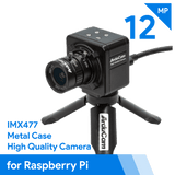 Arducam Camera B0241 Arducam 12.3MP Camera Raspberry Pi HDMI IMX477 with 6mm CS-Mount Lens with Tripod
