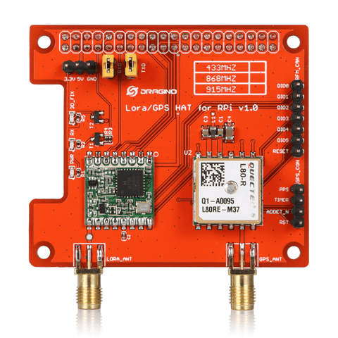LoRa and GPS HAT for Raspberry Pi Long Range Transceiver @ IOT Store