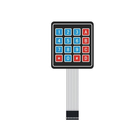 ElecFreaks Membrane Sealed Membrane 4X4 button pad with sticker