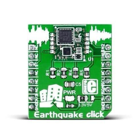 MikroElektronika Click Sensors Earthquake Click - MikroElektronika World's Smallest High-Precision Seismic Sensor