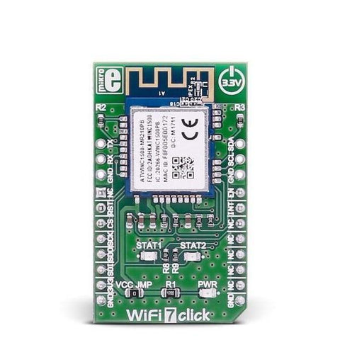 MikroElektronika Click Wireless Connectivity WiFi 7 Click - MikroElektronika Low Power IEEE 802.11 b/g/n Module
