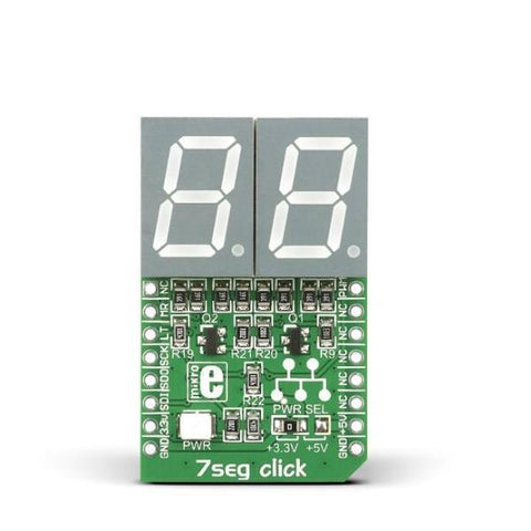 MikroElektronika LED Display 7seg click - MikroElektronika 2-Digit 7-Segment Display