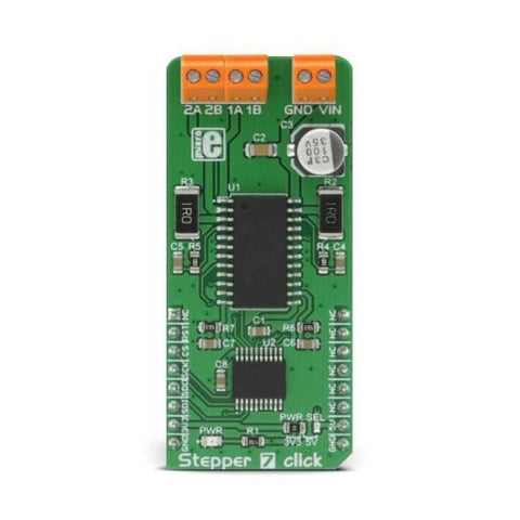 Stepper 7 click - MikroElektronika H-Bridge Bipolar Stepper Motor Driver