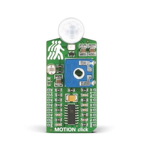 MikroElektronika Range Finder MOTION click - MikroElektronika Pyroelectric Motion Detection Sensor