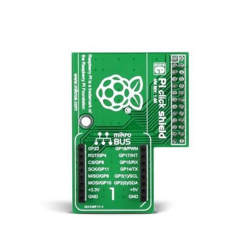 MikroElektronika Raspberry Pi Pi Click Shield - Raspberry Pi Click Expansion Board