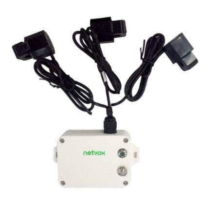 Netvox LoRaWAN R718N3 LoRaWAN Wireless 3-Phase Current Meter (3-Gang)