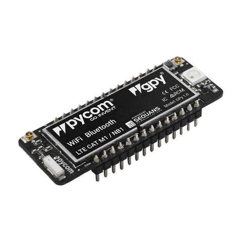 Pycom IoT Board GPy - Pycom Cellular LTE CAT M1/NB1, WiFi & BLE IoT Development Platform